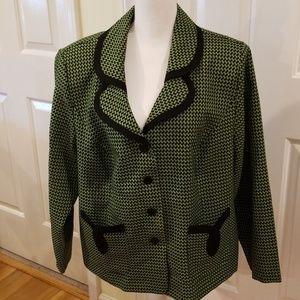 Blazer Size 20W Green and Black